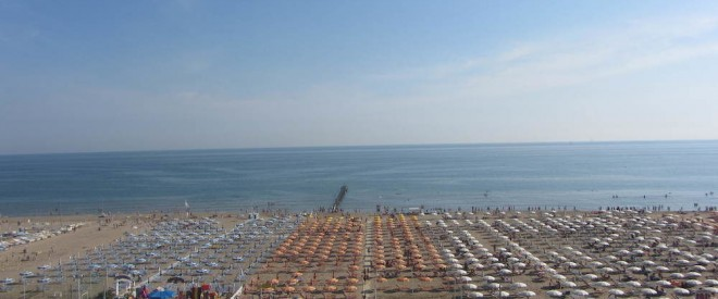 carlton beach at rimini italy